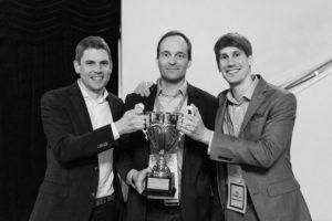 Vasemmalta oikealle: Tommi Lehtonen (CEO, Blueprint Genetics), Tuomas Kosonen (Partner, Inventure) ja Ville Koskenvuo (Hallituksen pj, Blueprint Genetics)